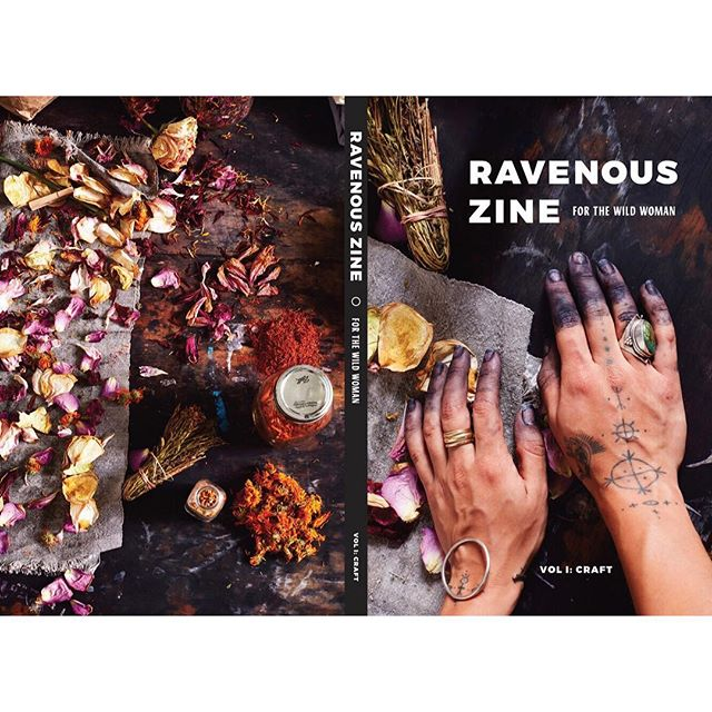 Front and back covers for @RavenousZine Volume 1: Craft.  First press has sold out but a second run will be available early February.