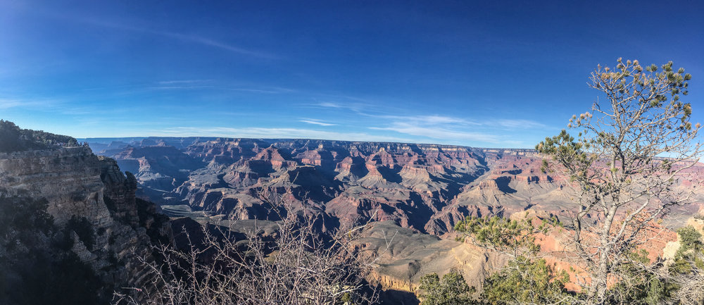 Overlook of the Grand Canyon South Rim from Mather Point