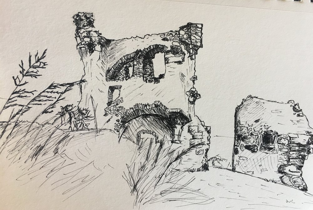 My drawing of Saint Anthony's Chapel