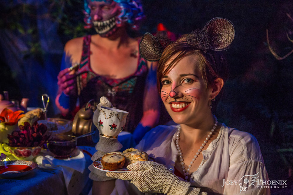 Megan Afon as the Dormouse