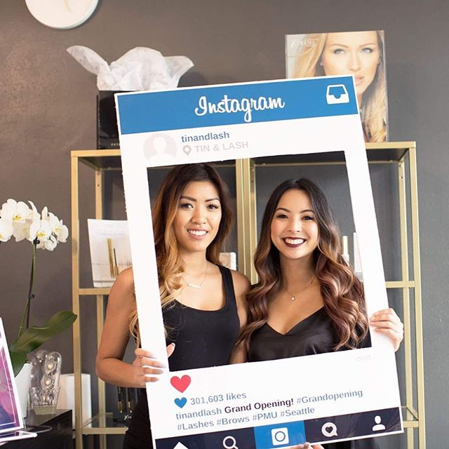 Meet your girls at TIN & LASH! Thank you @photographybyturkan for photographing our grand opening! #grandopening #wereopen #microblading #eyelashextensions #seattlelashes #seattle #fremontseattle #tinandlash