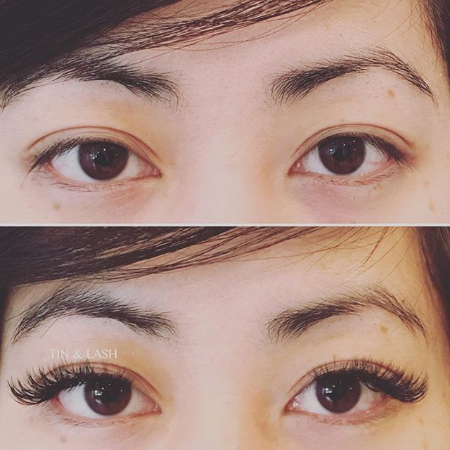What eyeliner? #xtremelashes #volumelashes #beforeandafter #seattlelashes #tinandlash #fremontseattle