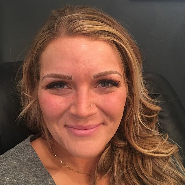 Thank you for letting us do your lashes & brows Jordan! ❤️ #seattlebrows #seattlelashes #micropigmentation #pmu #microblading #lashes #eyelashextensions #tinandlash #eyebrow #beauty #classiclashes
