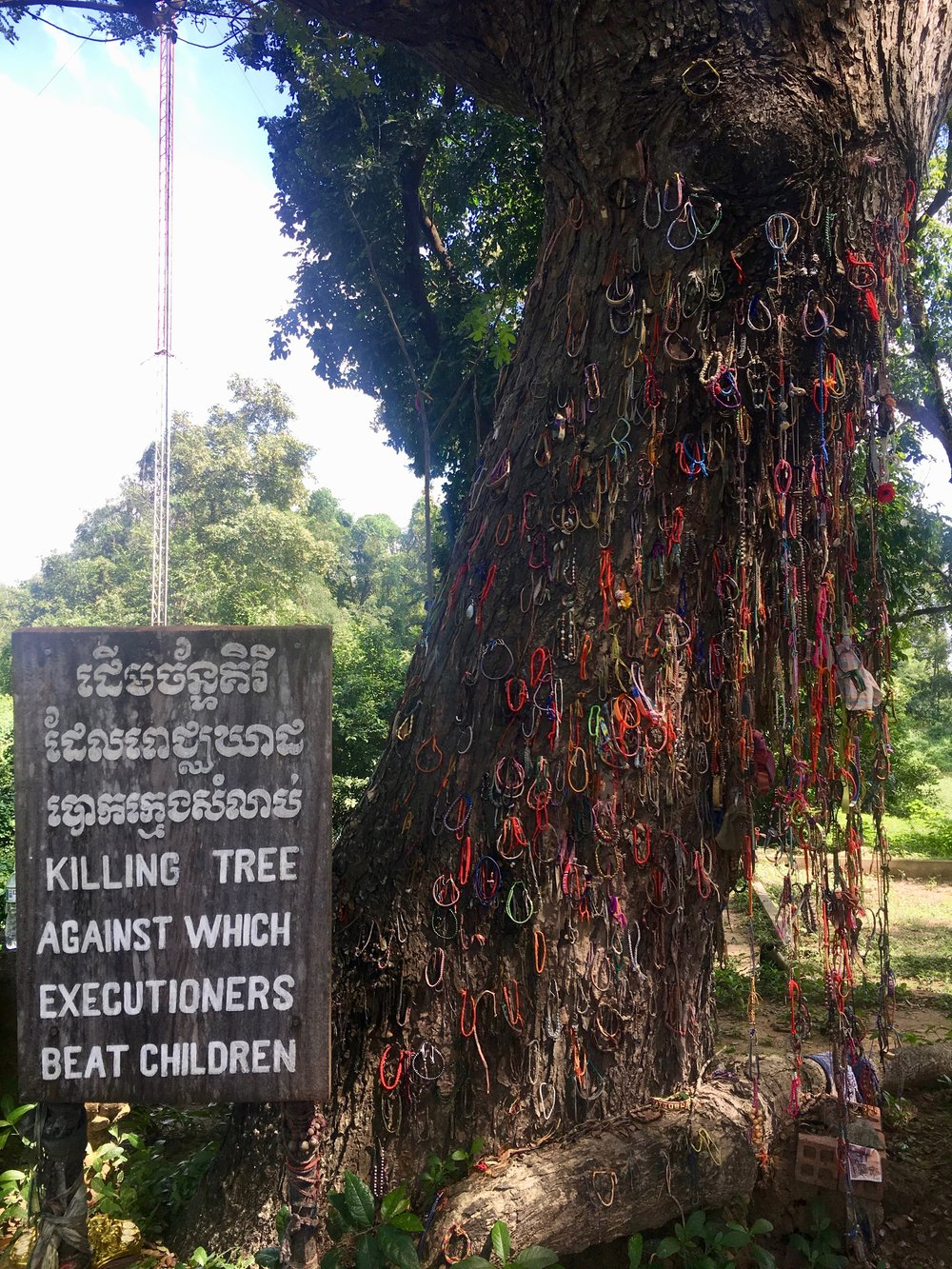 Sign says enough. At the Choeung Ek Genocidal Museum