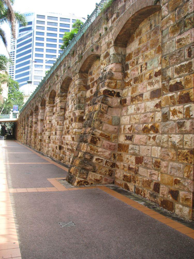 Petrie Bight Wall, Brisbane Queensland. Constructed circa 1881- 1882