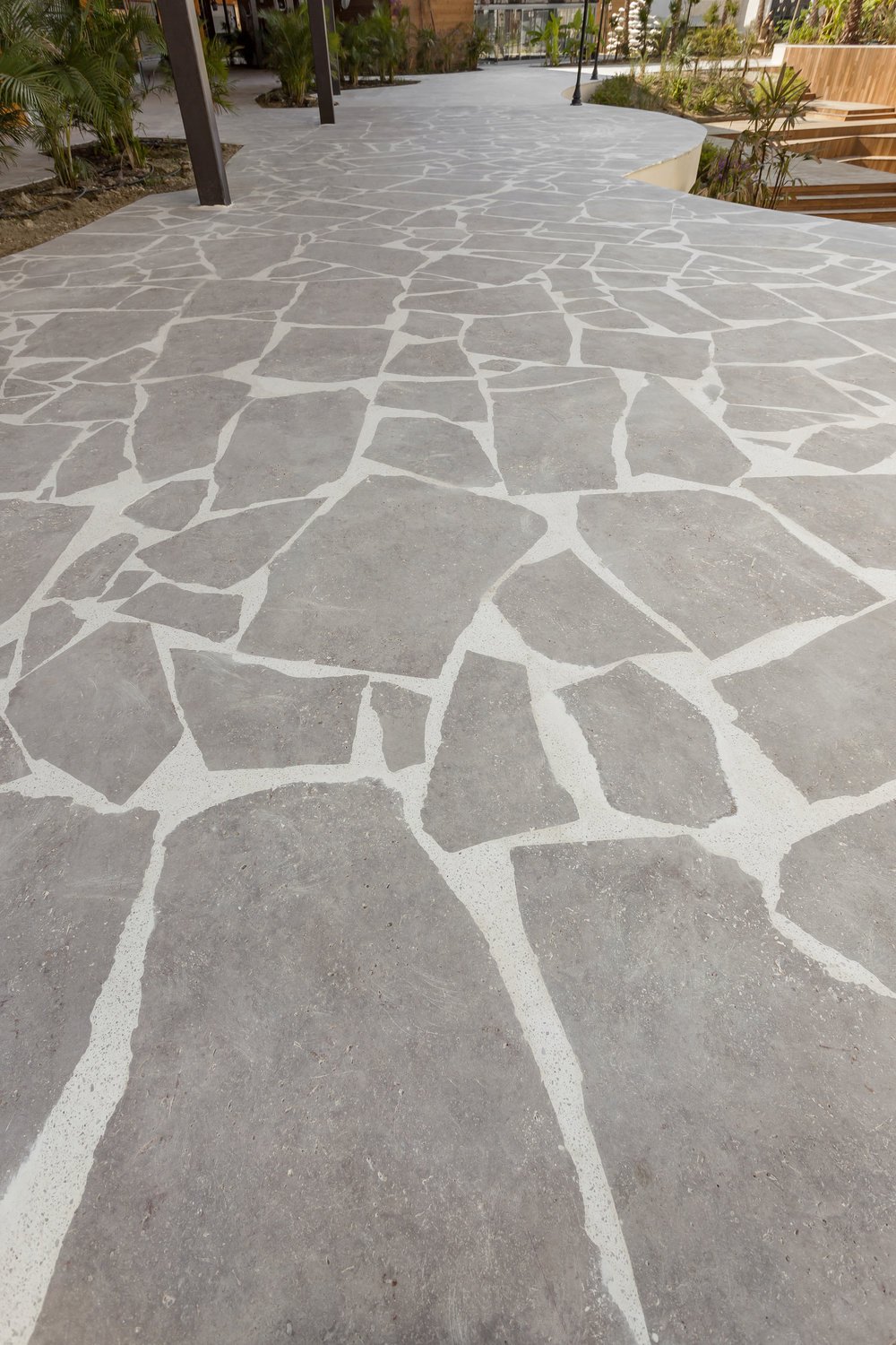 Bluestone Random Flagstone Paving Sawn finish.