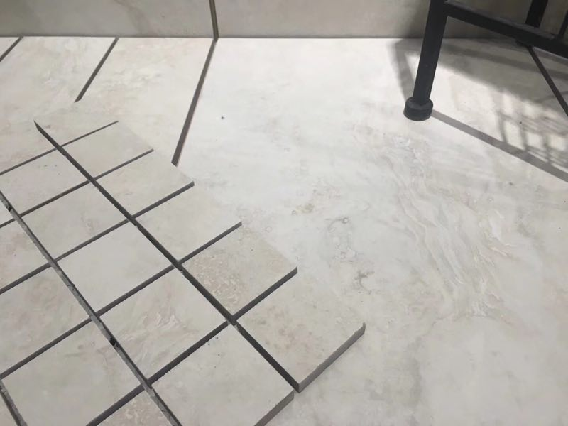 Travertine look porcelain