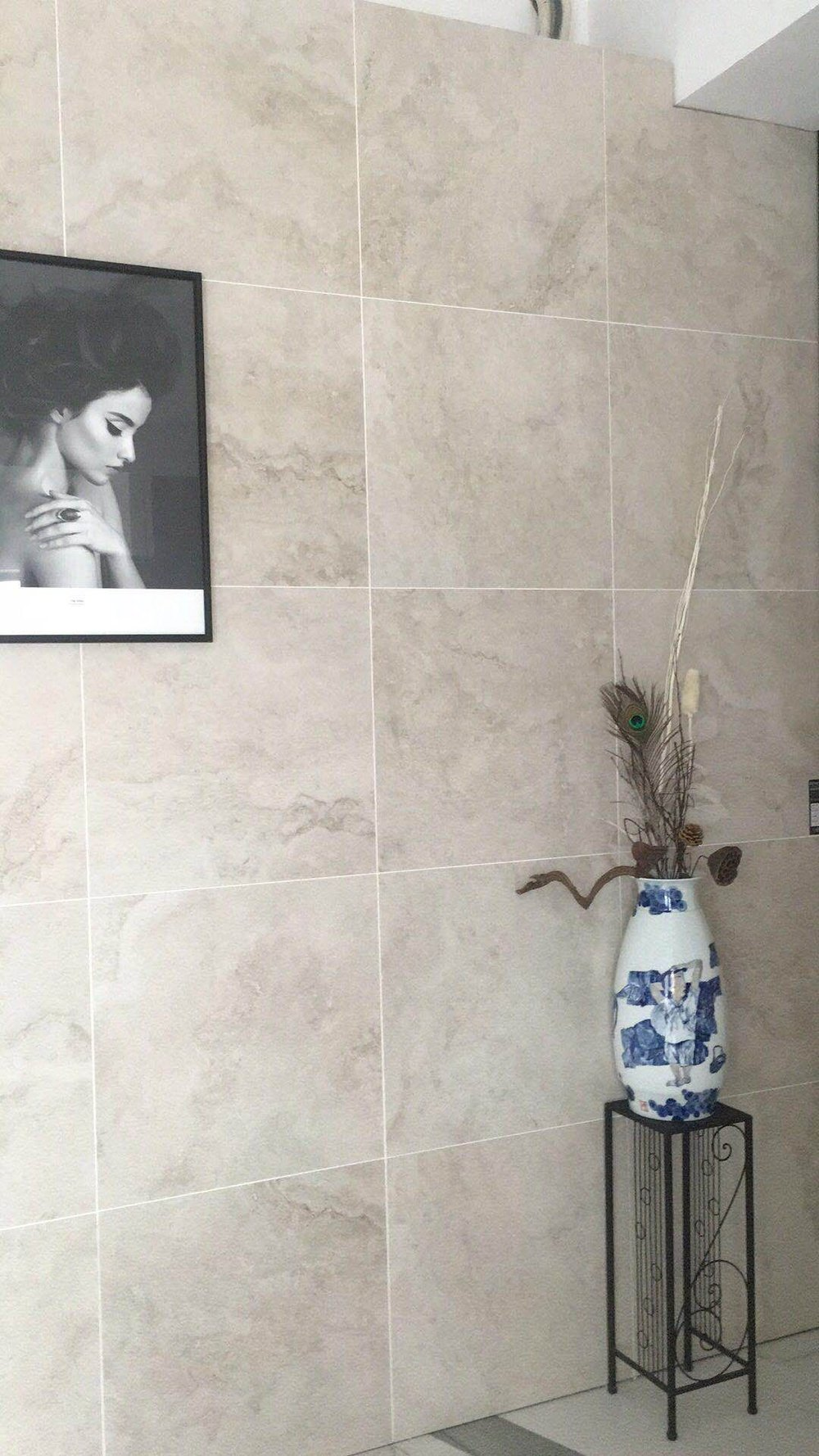Geo-Travertine Porcelain 600x600 Ivory