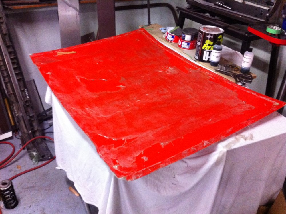 The new mould for the new bonnet.