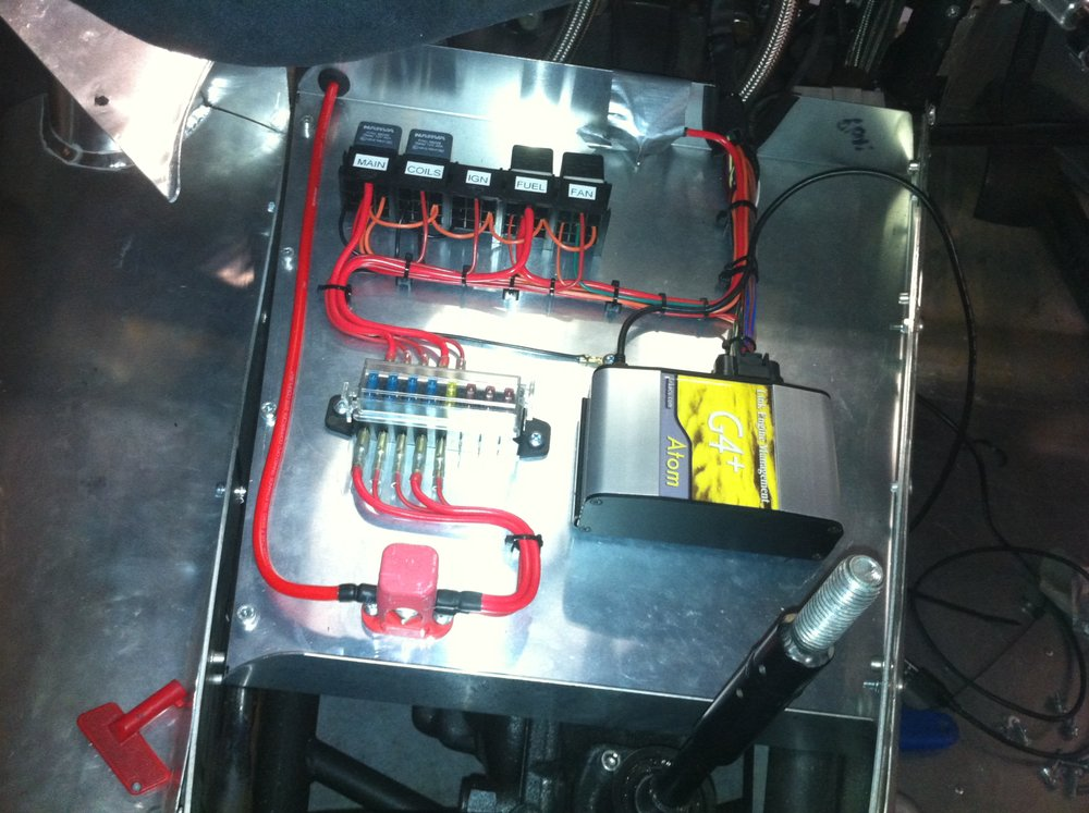 When i first installed the new ECU and wiring loom.  This is located above the gearbox.