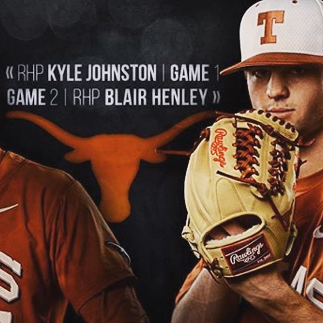 FortWorth_Cats alum @blairhenley pitching game 2 today for the Longhorns.