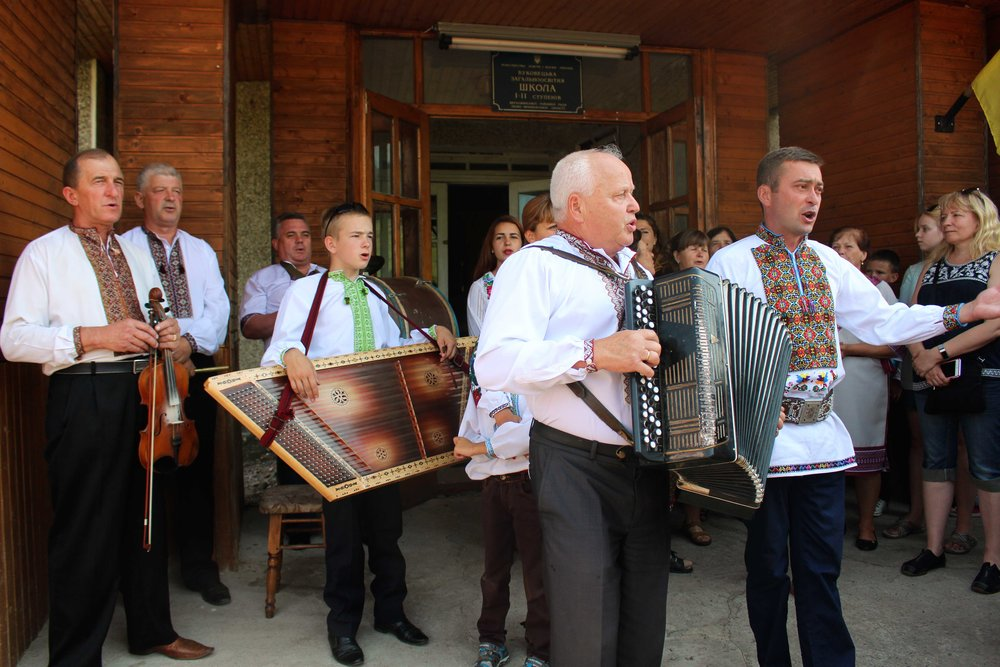 In the Carpathian Mountains, we attended a mock Hutsul wedding. They sang to us, fed us, and danced with us in true Ukrainian fashion.