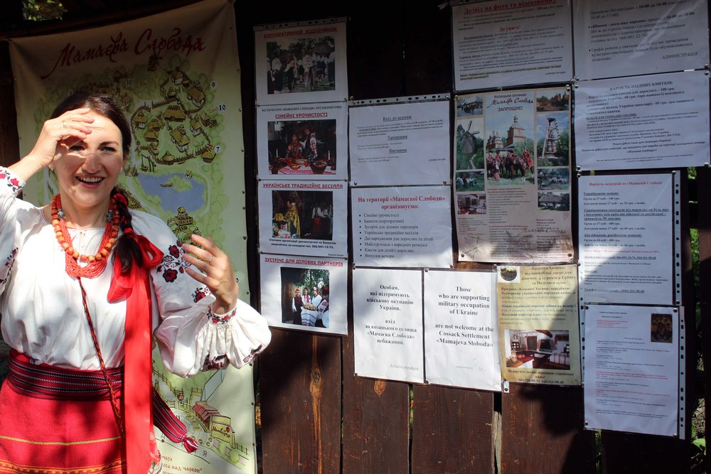 """Those who are supporting military occupation of Ukraine are not welcome at the Cossack Settlement Mamjeva Sloboda."""