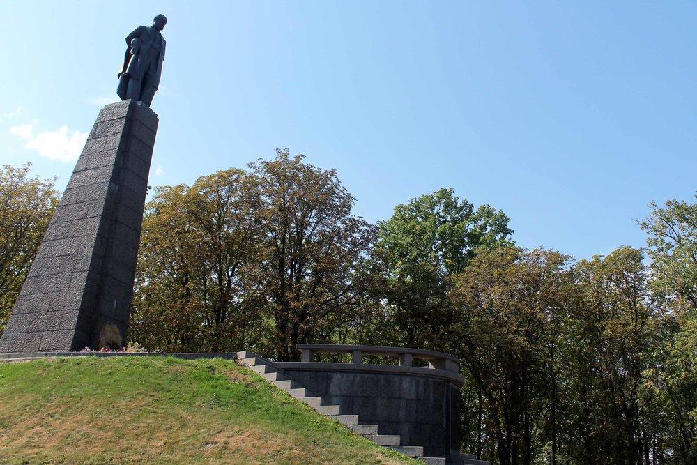 Taras Shevchenko's burial site overlooks the Dnieper River.