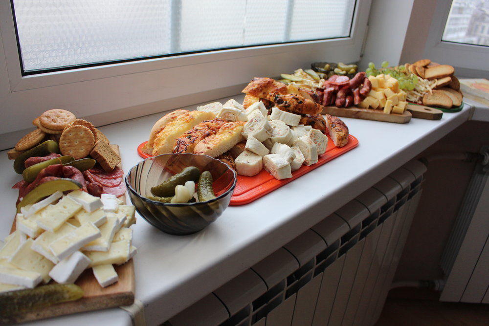 Among our appetizers were one of our dance instructor's pickles. Natalya, our friend, go-to person, and Virsky dancer, came to Thanksgiving and brought her mom's pickles. Her mom, Helena, is an instructor with Virsky and Virsky Studio and is the daughter of Myroslav Vantukh, the artistic director of the company. Needless to say, they were some pretty famous (and delicious) pickles.
