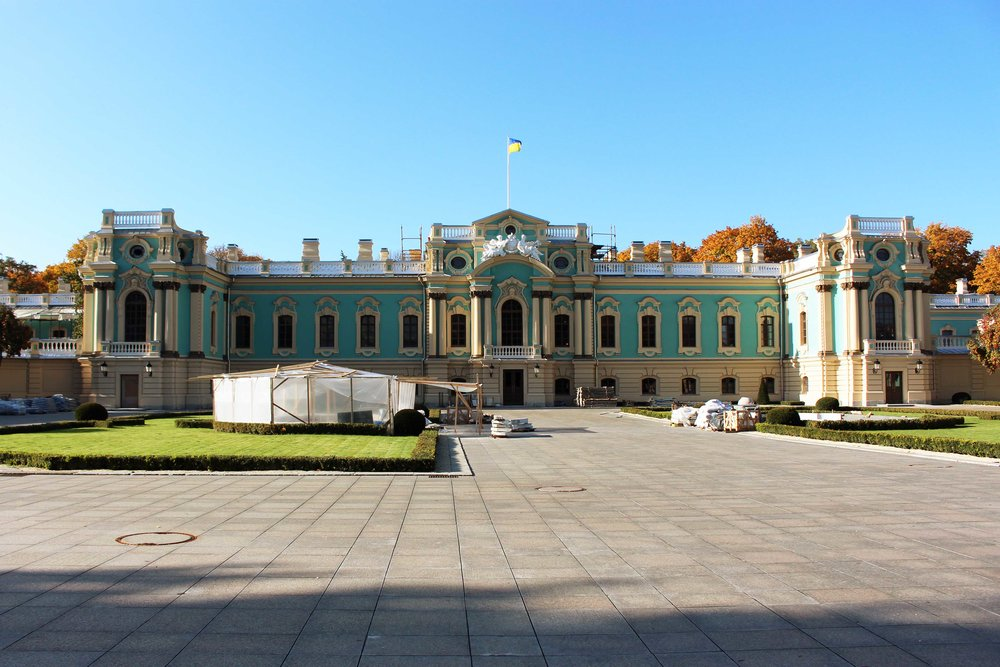 Mariyinsky Palace is the ceremonial residence of the Ukrainian president.