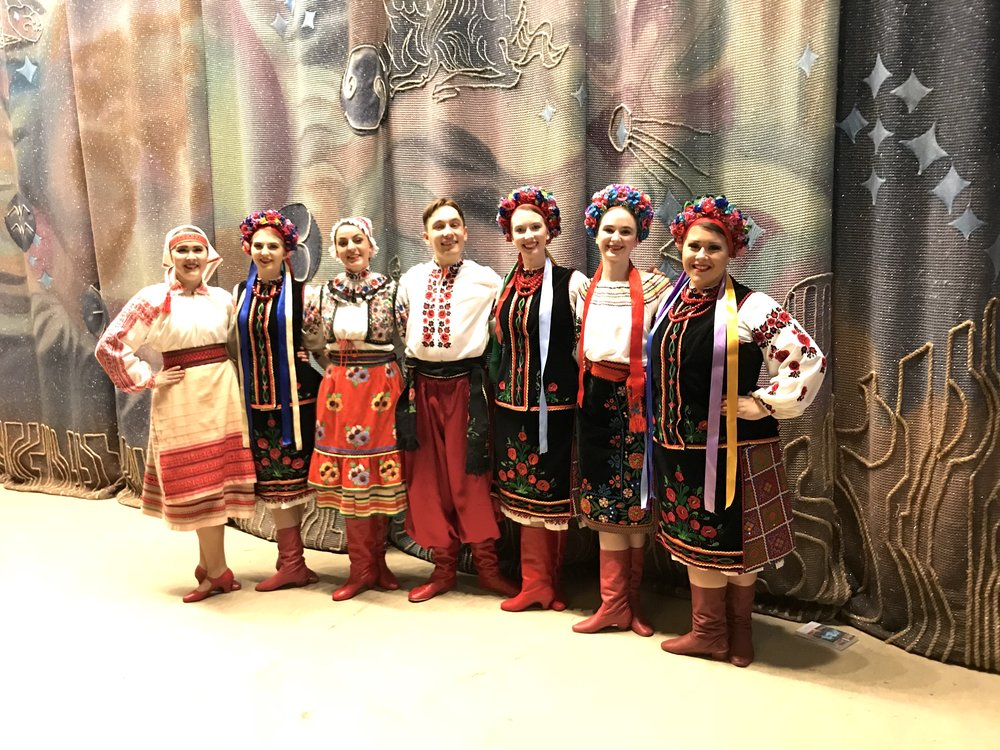 Proud to say that it was the debut of not only me performing with the Yunist Honoured Ukrainian Dance Ensemble, but it was also the debut of my new red boots.