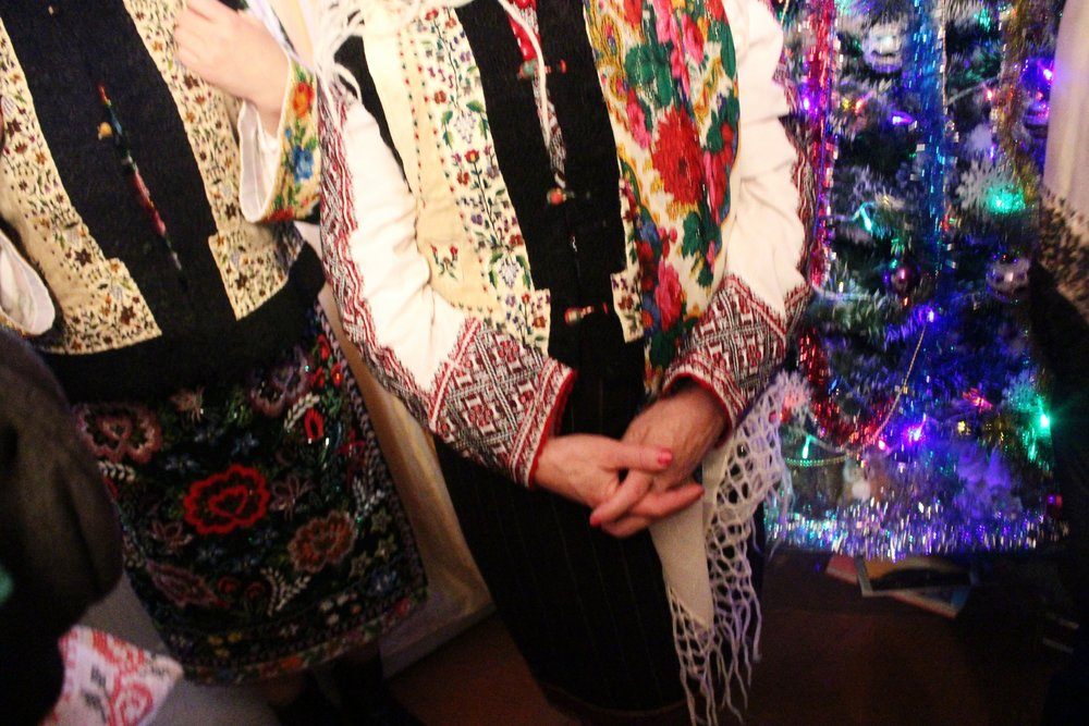 People wore their beautiful handmade traditional costumes.