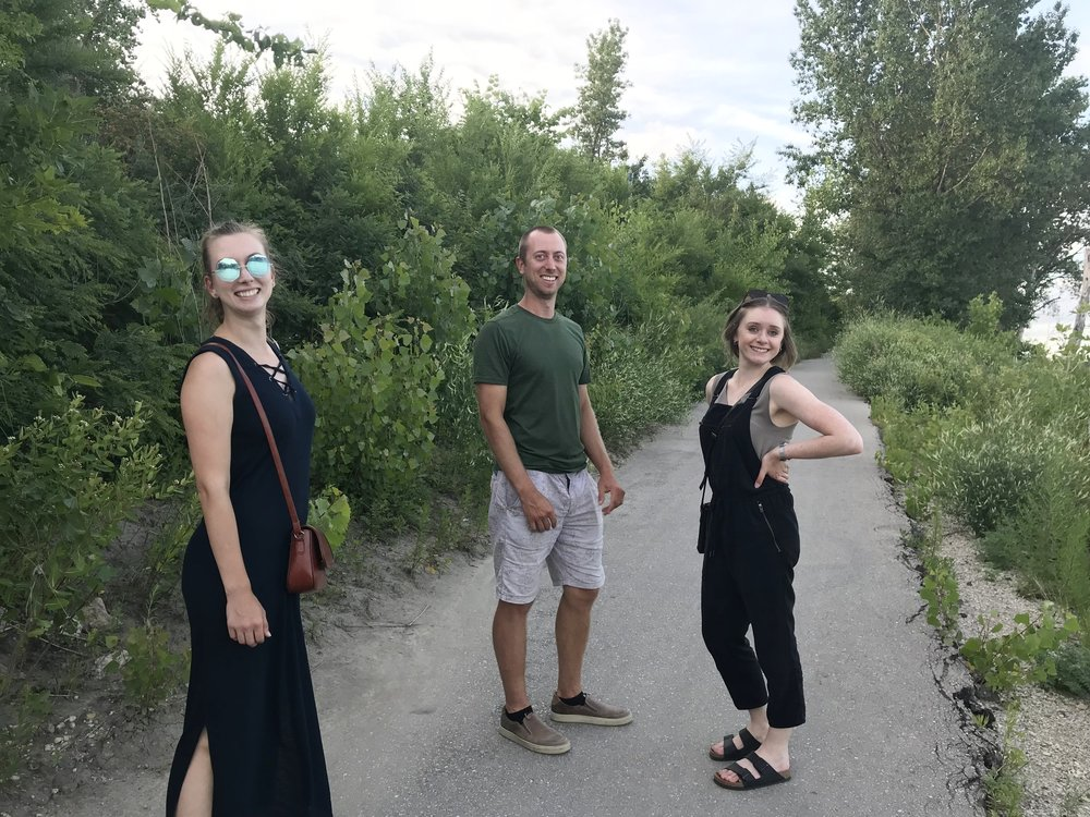 Another major adjustment: Walking/public transport isn't the main mode of transportation. Except when you're with my family and we walk from South Osborne to The Forks on a trail we didn't know existed.