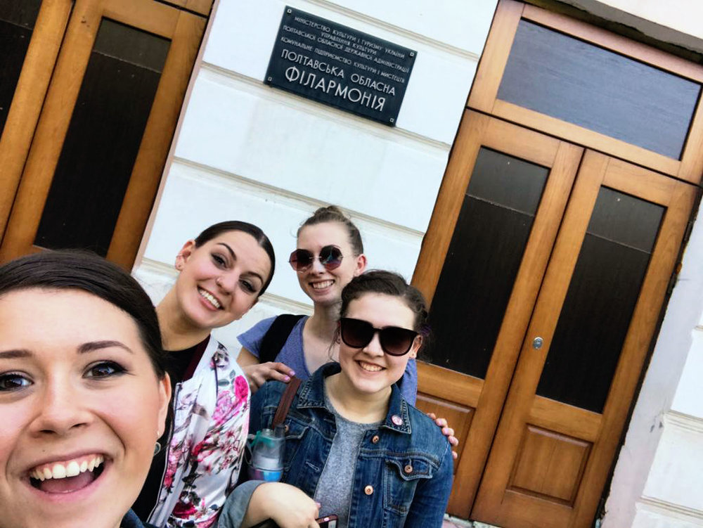 We spent hours and hours at the Poltava Philharmonic rehearsing with the ensemble. The building was going through renovations when we were there — I can't wait to see the building when it's complete!