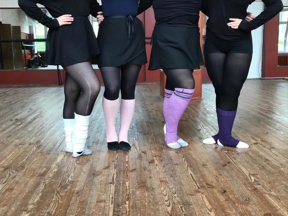 We would arrive early to class to practise Volyn's fancy footwork (and to have photo shoots with our cool leggings).