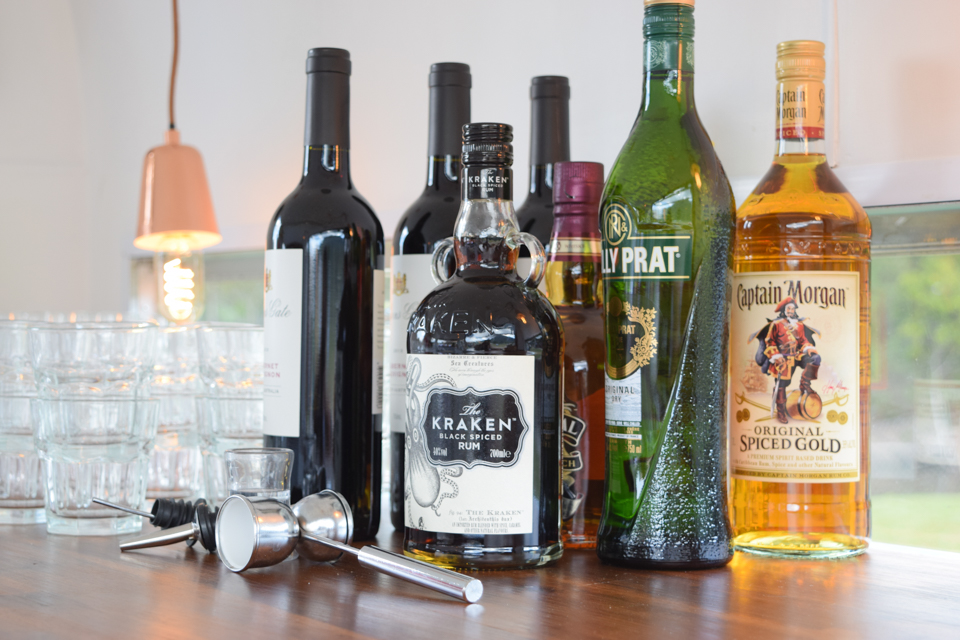 Spirit Service - Offer guests a range of spirits and mixers of your choice.Includes all glassware hire, equipment and ice.$ Price on application