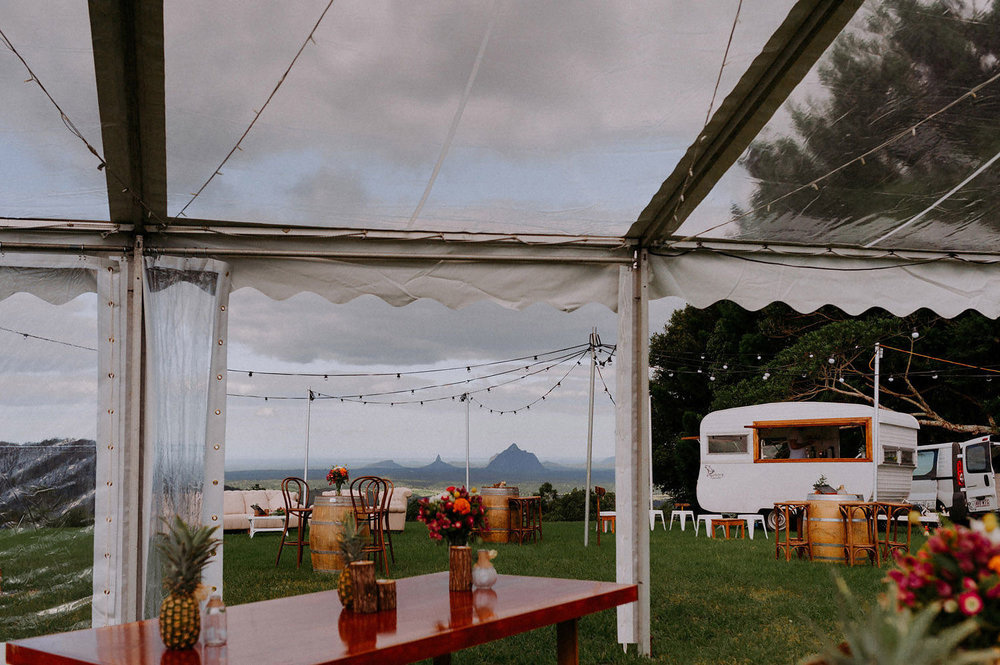 Sunshine Coast-Marquee Wedding-Mobile-Caravan-Bar-Service