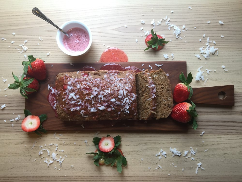 Whole Wheat Strawberry Coconut Loaf