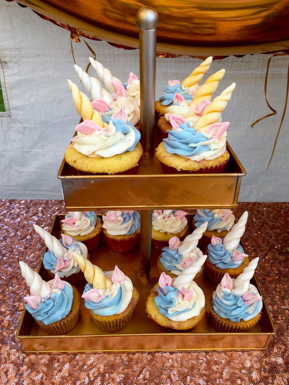 strawberries & cream unicorn cupcakes with vanilla bean buttercream