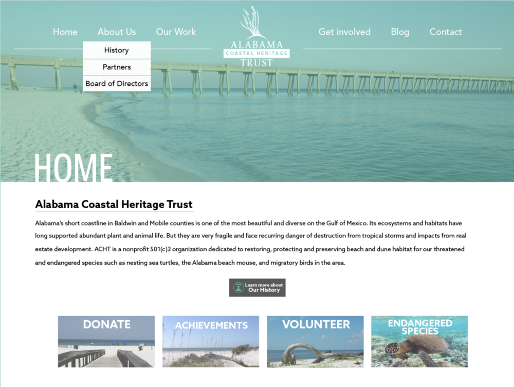 Alabama Coastal Heritage Foundation Website