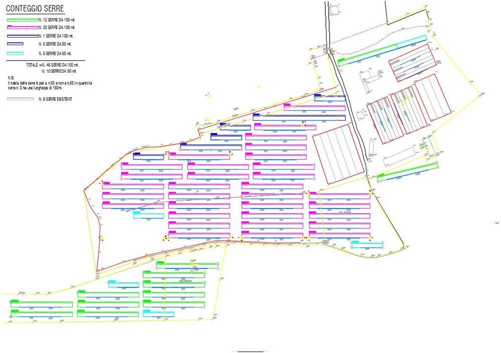 Stralcio progetto esecutivo impianto fotovoltaico su serre