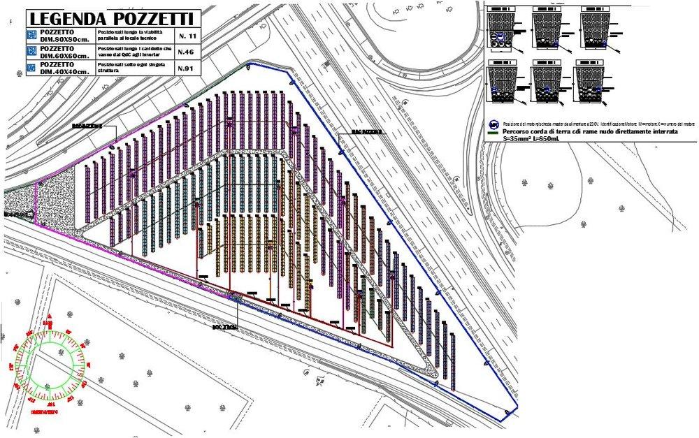 Stralcio progetto esecutivo impianto a terra a concentrazione