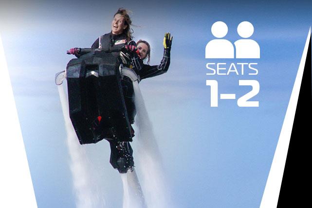 Şimdi İKİ kişi uçma zamanı! - 300 HP gücünde JetSki ile 200 kg. a kadar iki kişi uçma şansını yakalayacaksınız.