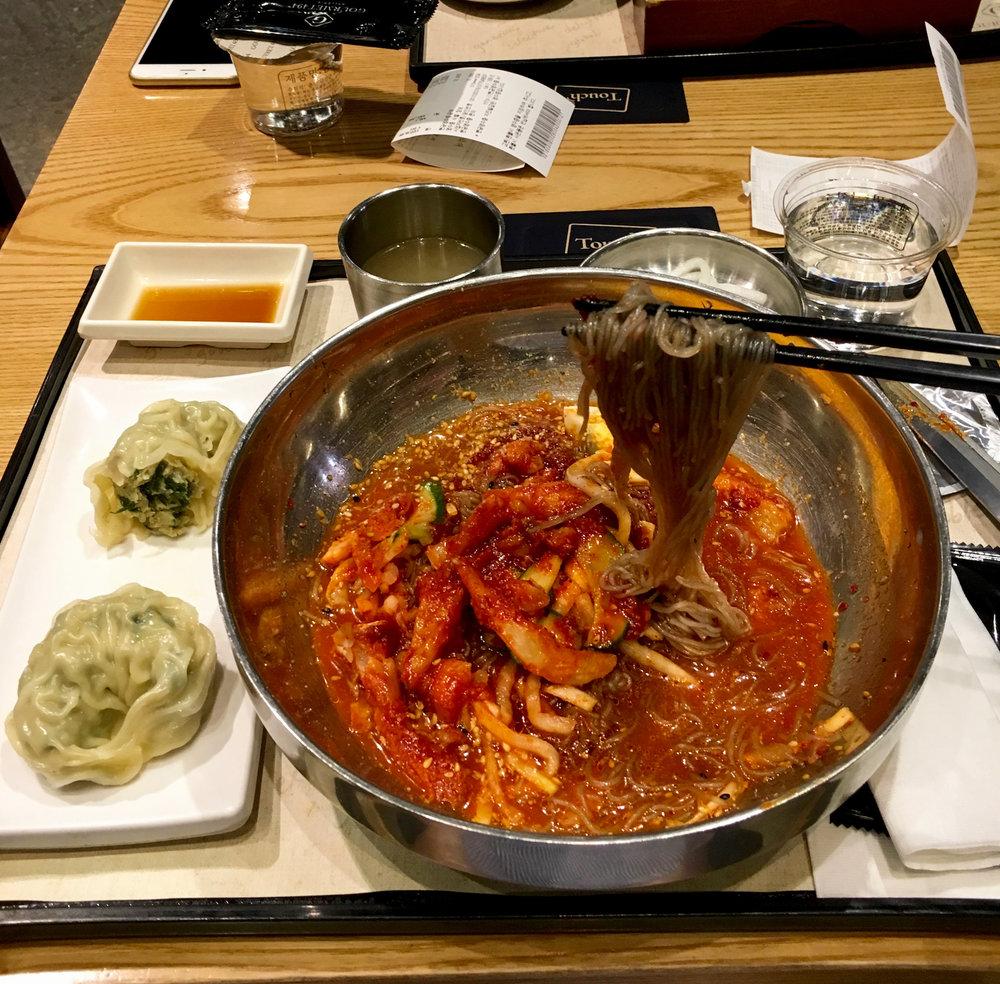 Naengmyun cold noodles
