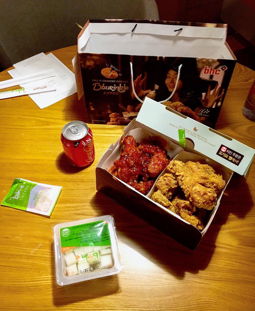 Korean fried chicken / chimaek.