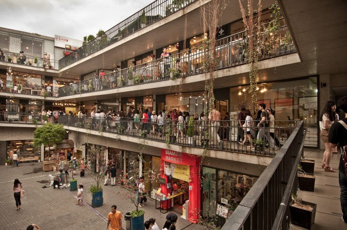 Ssamziegil shopping arcade.  Image source.