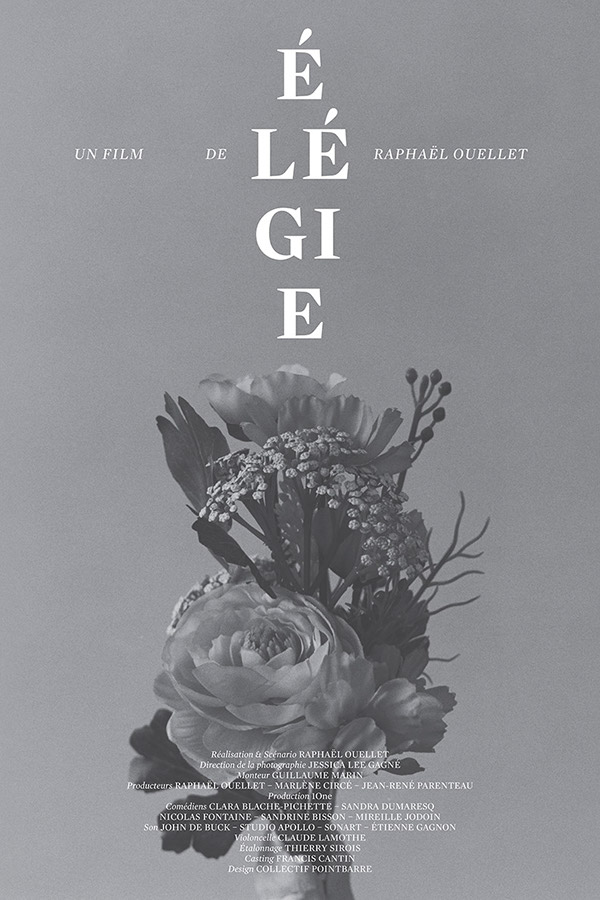 Poster for short film Élégie  - loving the monochrome and composition