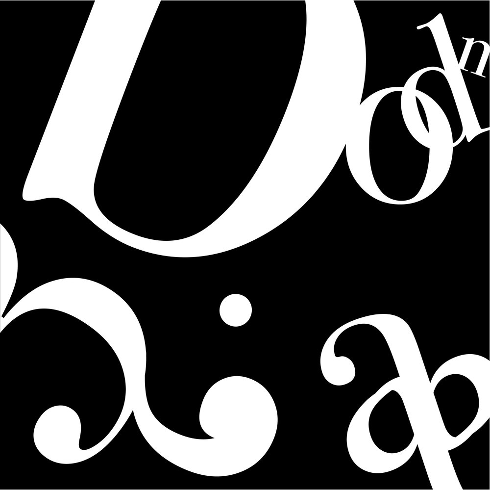 Abstract Bodoni poster.