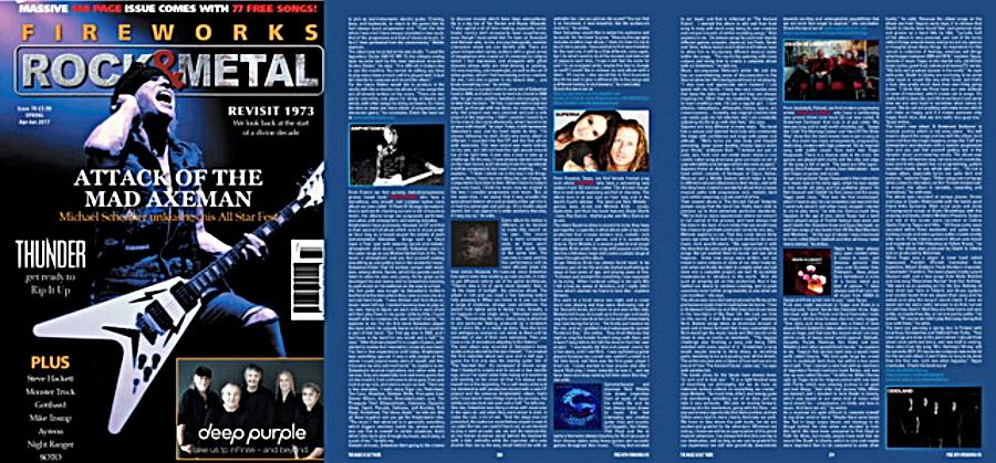 Superna 'ROCKS' ~ Fireworks Magazine UK Exclusive Interview - by Nicky Balderain for Fireworks Magazine UK