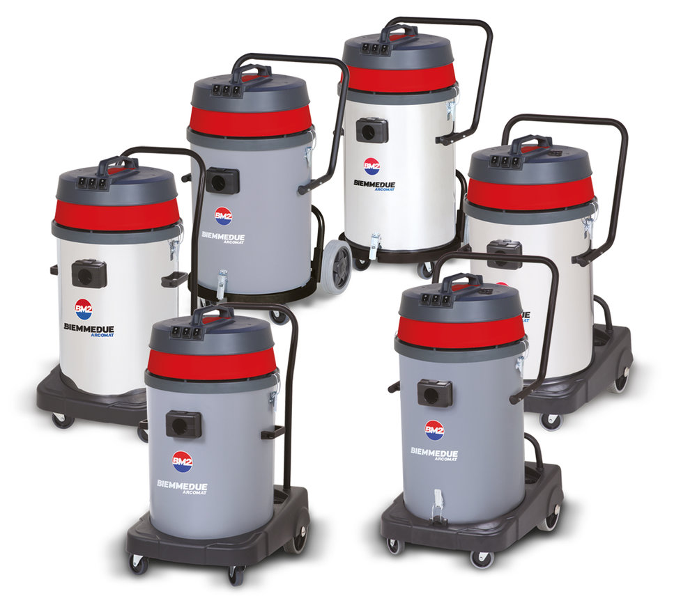 SP & SM 80 F / B PL / B AC - MULTIPLE-MOTOR (2 OR 3 MOTORS) WET & DRY VACUUM CLEANERS WITH FIXED/TIP & POUR FRAME
