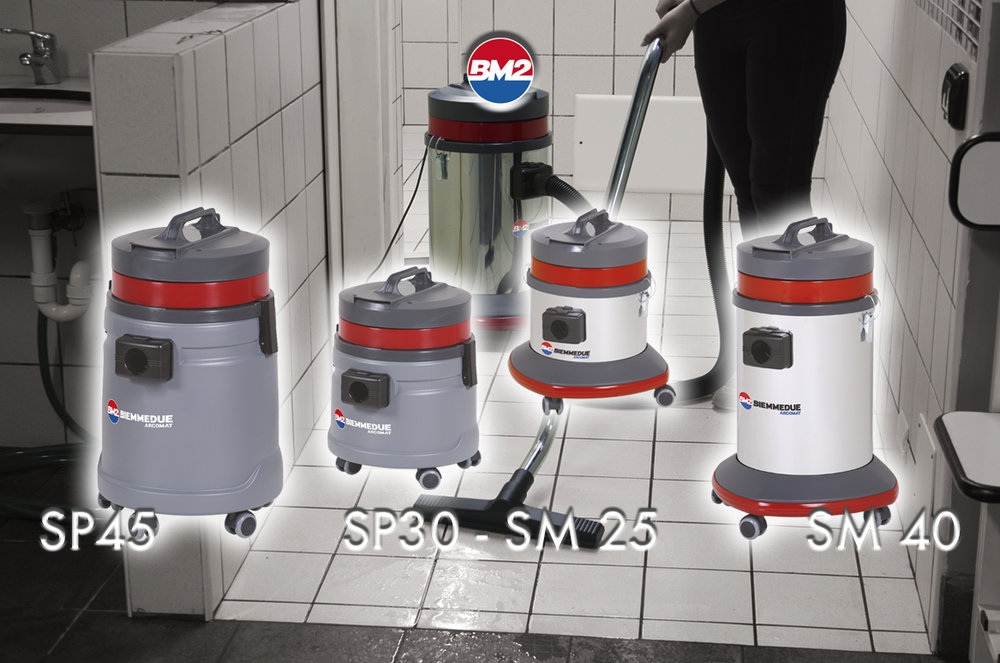 SP 30/45 & SM 25/40 - SINGLE-MOTOR WET DRY VACUUM CLEANERS FOR PROFESSIONAL USE