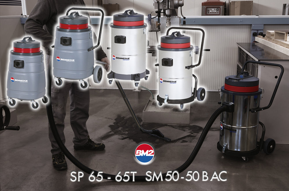 SP 65/65 T & SM 50/SM 50 B - SINGLE-MOTOR WET & DRY VACUUM CLEANERS FOR PROFESSIONAL USE