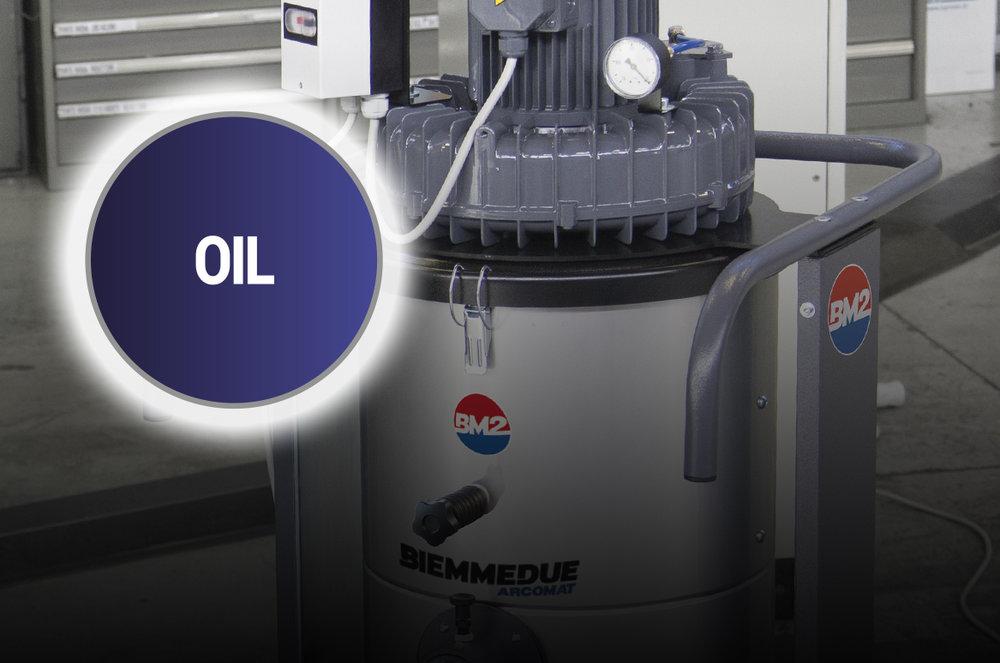 ASPIRATORI INDUSTRIALI BIEMMEDUE: APPLICAZIONI SPECIALI - olio