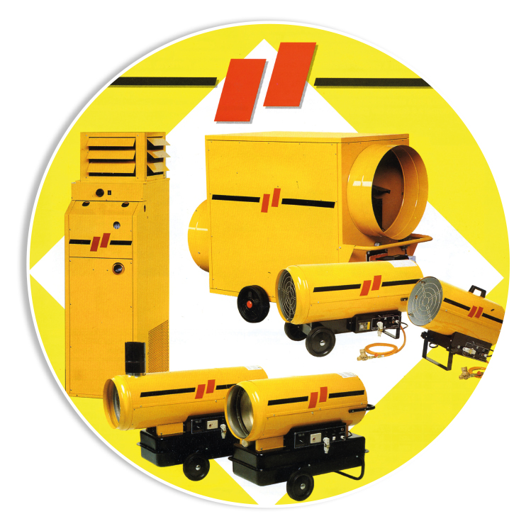 LINEA OKLIMA - Alla linea di generatori d'aria calda Arcotherm viene affiancata la seconda linea Oklima