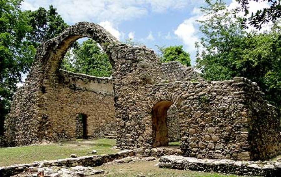 Oxtankah ruins.
