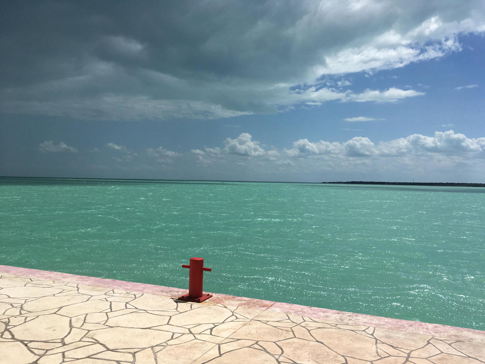 The sea colour by the terminal is pretty turquoise, almost kitsch