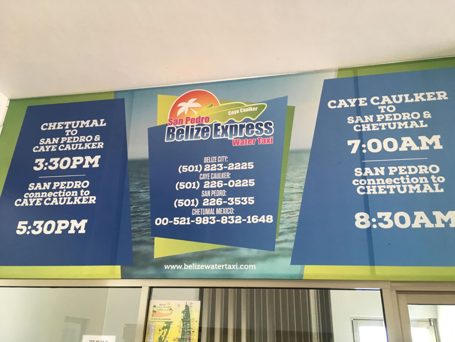 Belize Express was closed when we arrived as it operates every second day.