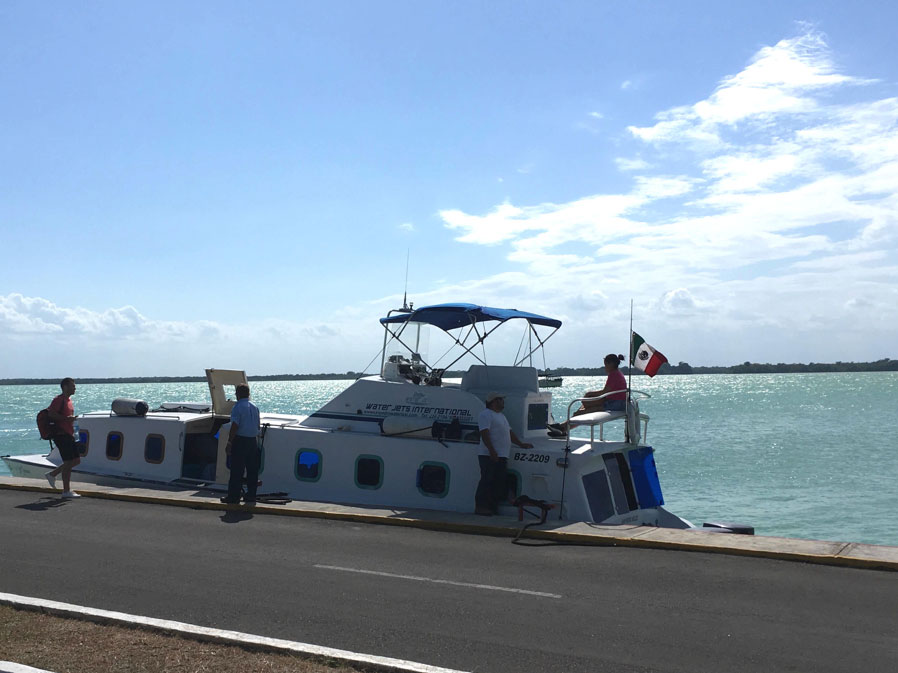 The ferry to Belize.