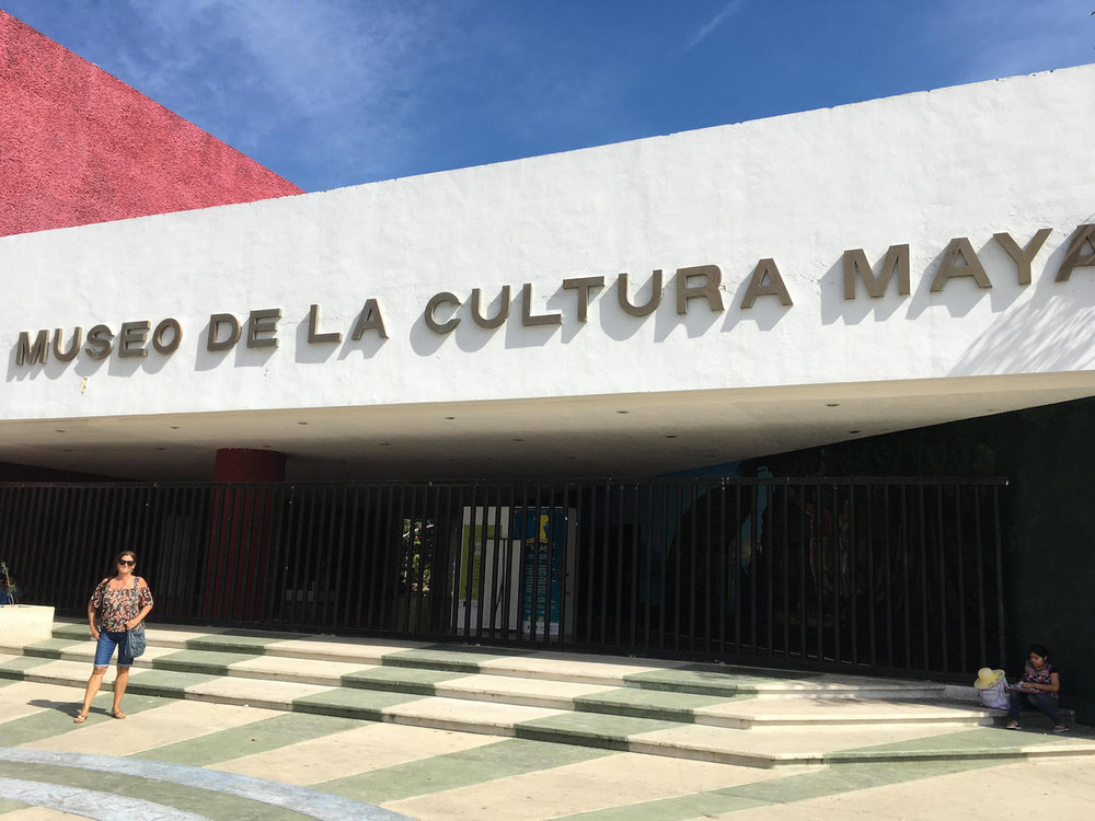 The Museum of Maya Culture, on my return visit for the clients. It was Monday and the museum was closed.