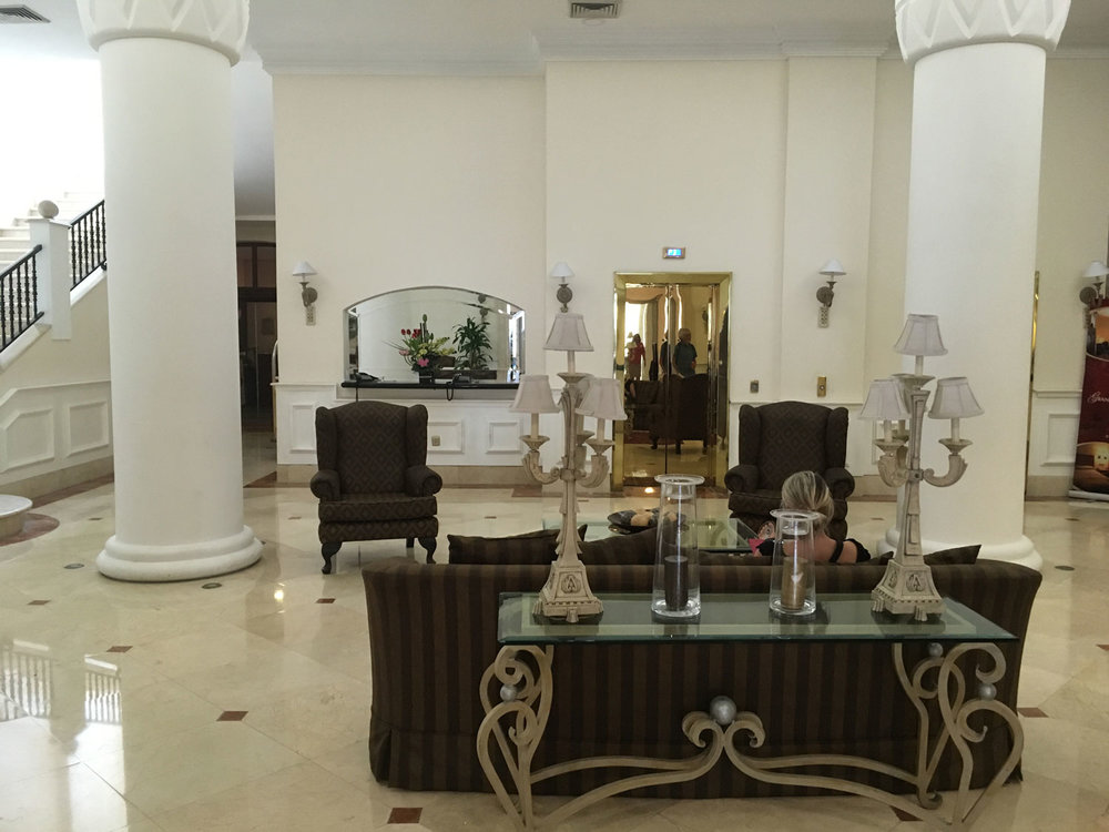 Our group loved the hotel for its space and elegance, starting with its lobby.
